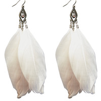 Cutout Pendant & Feather Earrings | Wet Seal