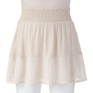 Joe B Smocked Skater Skirt - Juniors