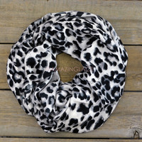 Highland Point White Leopard Infinity Scarf