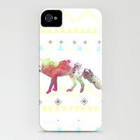 Watercolor native fox iPhone Case by Nika  | Society6