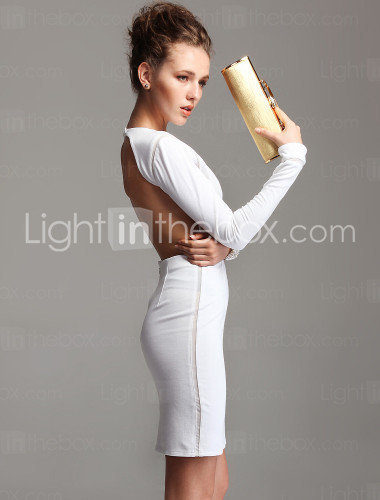 TS Backless Longsleeve Bodycon Dress(More Colors) - US$ 49.99