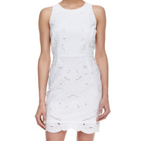 Milly Claudia Embroidered Sleeveless Dress