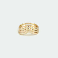 Make Like a Trio Gold Knuckle Ring Set
