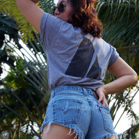 Levis high waisted denim shorts cheeky high cut Hipster clothing by Jeansonly