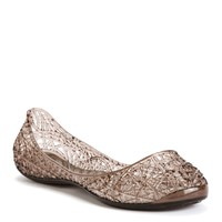 Taupe Caged Jelly Flats