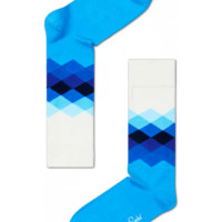 Cool socks for fun people at HappySocks - Faded Diamond blue to white