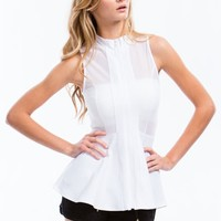 Sheer Thing Peplum Top