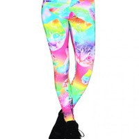 Rainbow Space Cat Leggings