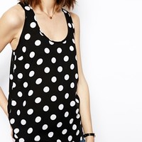 ASOS Basic Vest in Spot Print Top