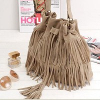 Retro Fringed Shoulder Handbags