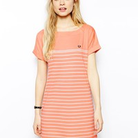 Fred Perry Striped T-Shirt Dress
