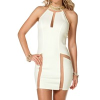 Ivory Gold Plated Short Dress