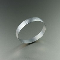 Hammered Aluminum Bangle - Fine Texture