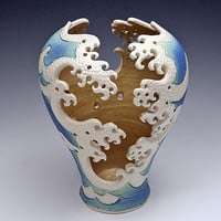 Wave Cut Out Vase