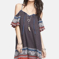 Free People Cold Shoulder Cotton Peasant Dress | Nordstrom