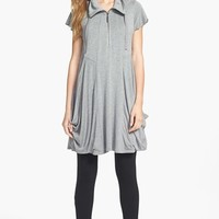 kensie Zip Front Jersey Dress | Nordstrom