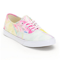 Vans Authentic Lo Pro Marble Pink & True White Shoes