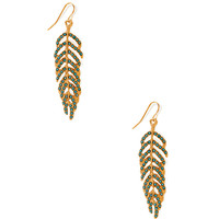Fancy Leaf Drop Earrings