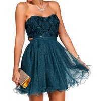 Promo-Oriana-Teal Homecoming Dress