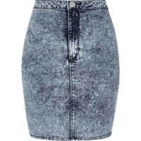 Mid acid wash mini tube skirt - mini skirts - skirts - women