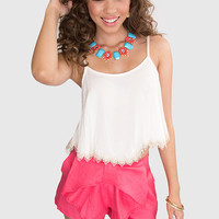 Patty Lace Crop Top