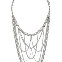 MULTI CHAIN DRAPE NECKLACE