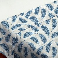 Blue Feathers Flat Sheet