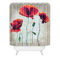 Madart Inc. Vibrant Poppies II Shower Curtain