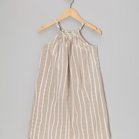 Taupe Aurora Reversible Swing Dress - Infant, Toddler & Girls | something special every day