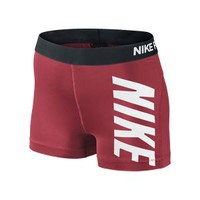 Nike Pro Core Compression Logo Women's Shorts - Laser Crimson