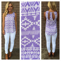 Angel of War Print Top - Lilac