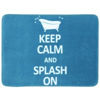 Keep Calm And Splash On Bath Mat