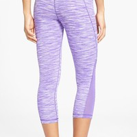 Zella 'Streamline - Live In' Mesh Inset Capri Leggings
