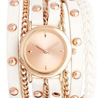 New Look Multi Stud Strap Watch