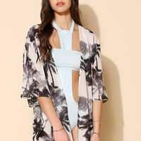 Volcom Strange Love Cover-Up Kimono Jacket - Urban Outfitters
