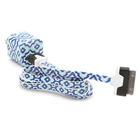 PacSun Cobalt Ikat Cord iPhone 4 Charger - Womens Scarves - Blue - NOSZ