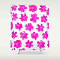 Flowering In Pink Shower Curtain by Ornaart