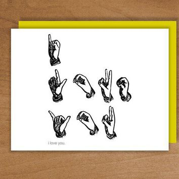 i love you by RussellandSalguero on Etsy