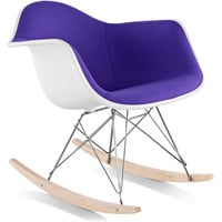 eames® molded armchair upholstered rocker base
