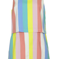 Margate Stripe Crop Playsuit