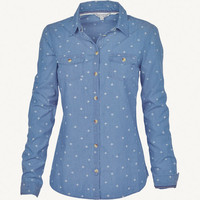 Classic Fit Denim Print Shirt
