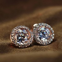 Zircon Exaggerated Fashion Retro Earring