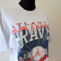 Vintage Atlanta Braves Baseball T-Shirt 1993