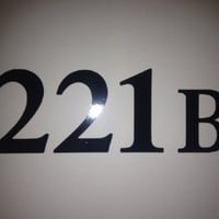 [QTY 2] 221B SHERLOCK HOLMES FANDOM VINYL AUTO WALL DECALS [5.5 INCH WIDE X 2.25 INCH HEIGHT