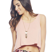 Bow Back Crop Tank | Wet Seal