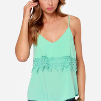 From Tier to There Mint Green Tank Top