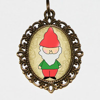 Gnome Necklace Oval Pendant