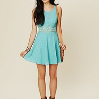 Free People Free People Fitted With Daisies Dress