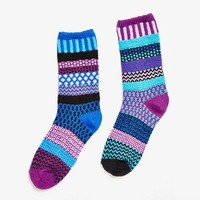 Solmate Socks Raspberry Crew Sock