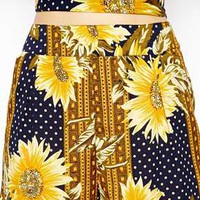 ASOS Shorts in Sunflower Print